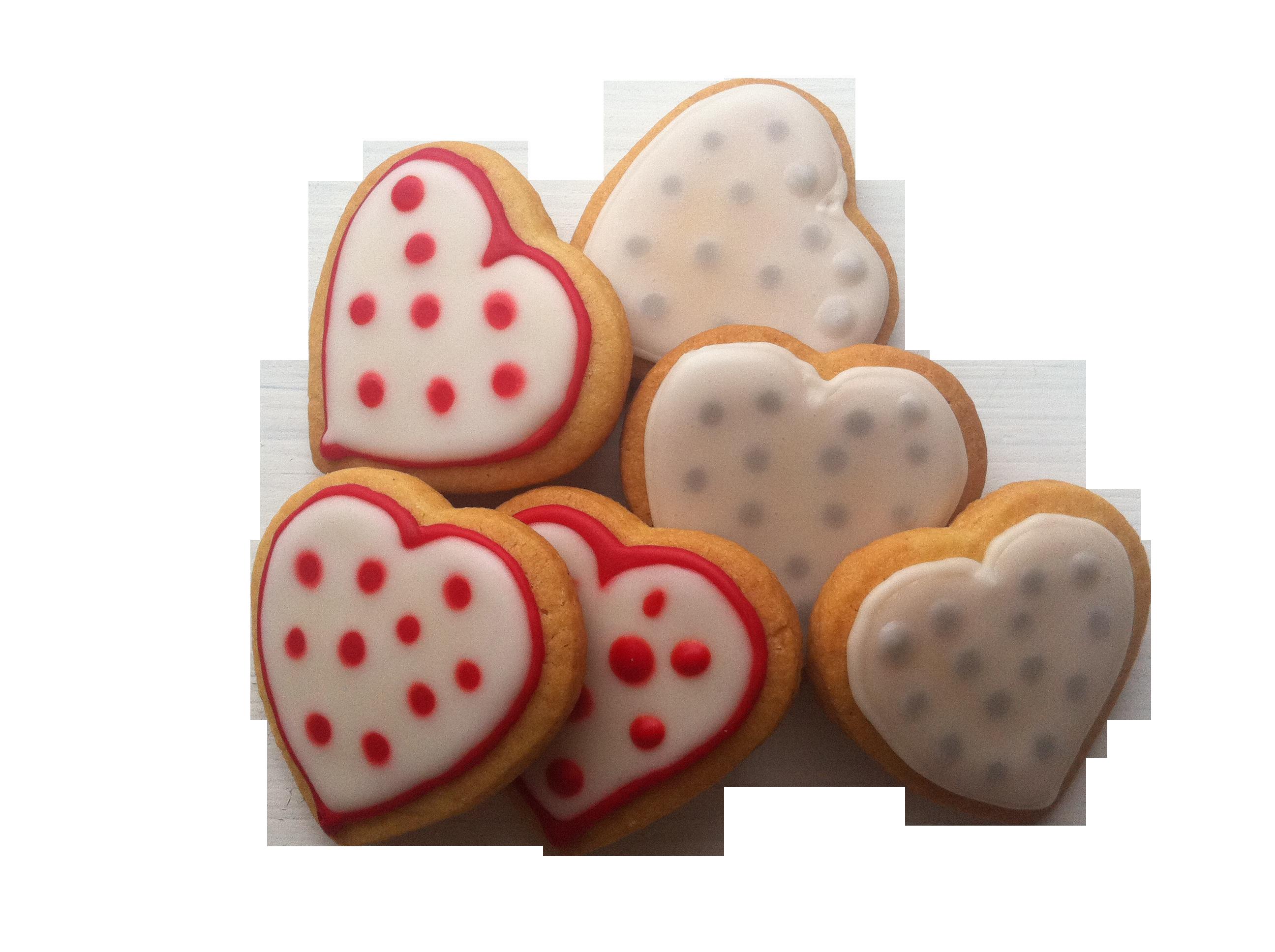 Heart Shaped Brown Cookies