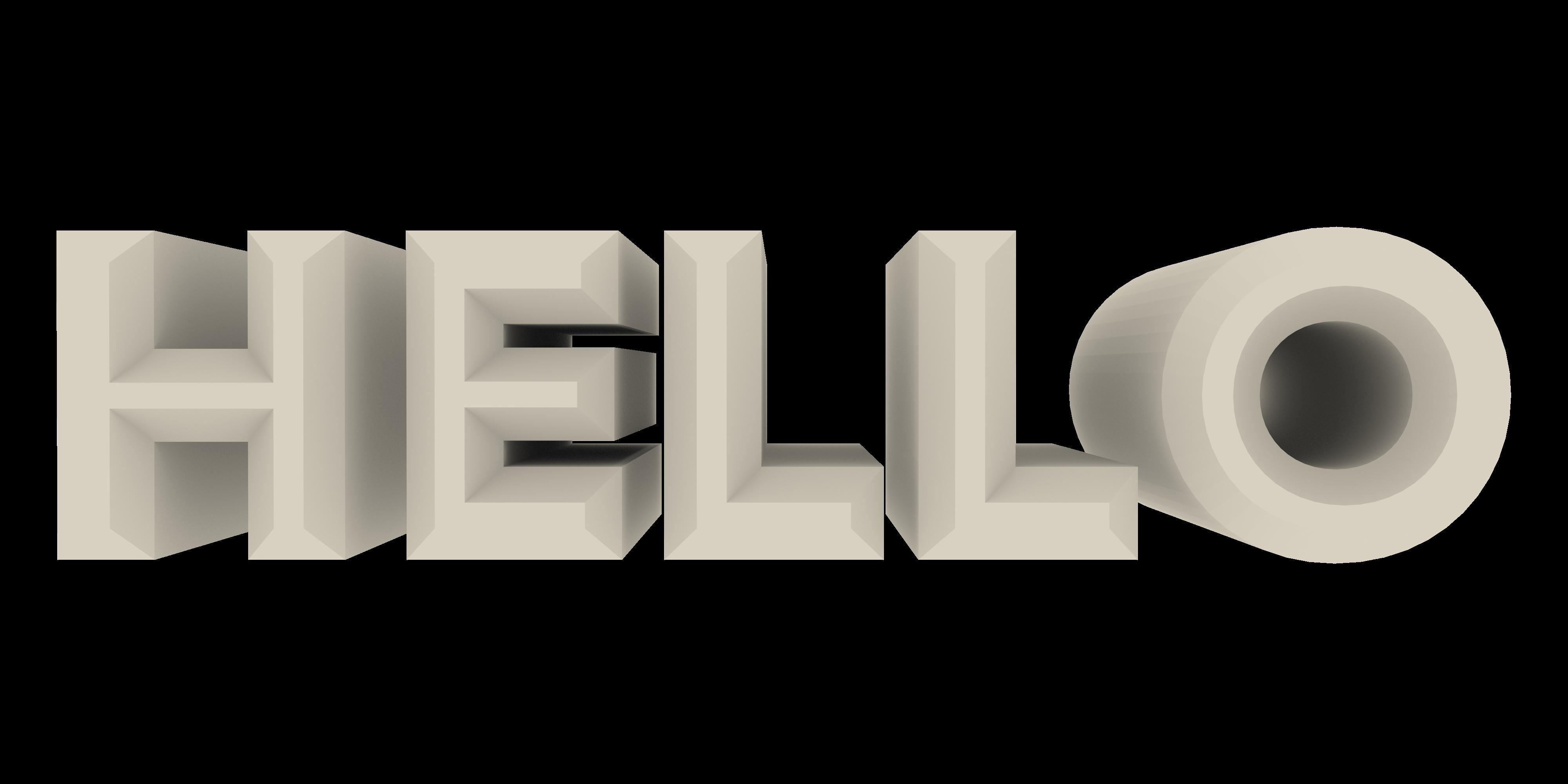 Hello PNG Image