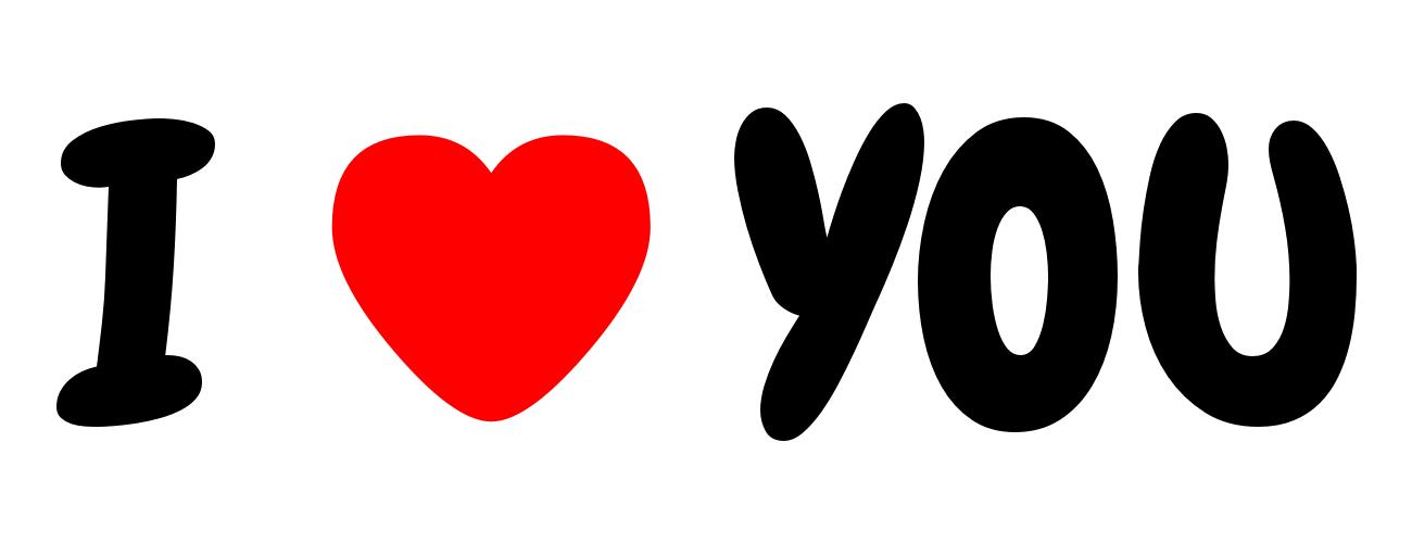 I love you / i heart you font PNG Image