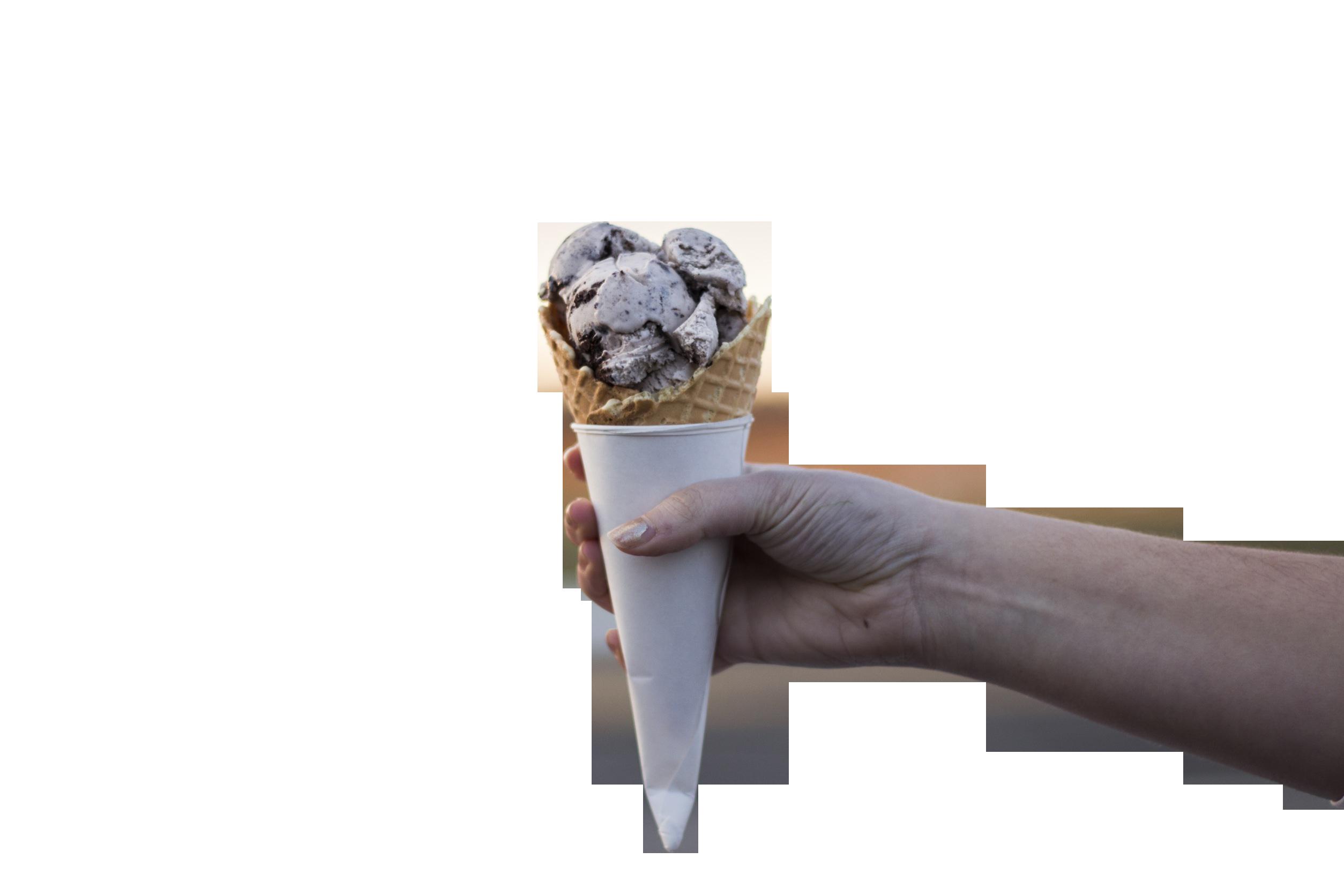 Ice Cream Cone in a hand