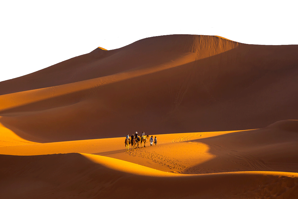 Camel Ride in the Desert PNG Image