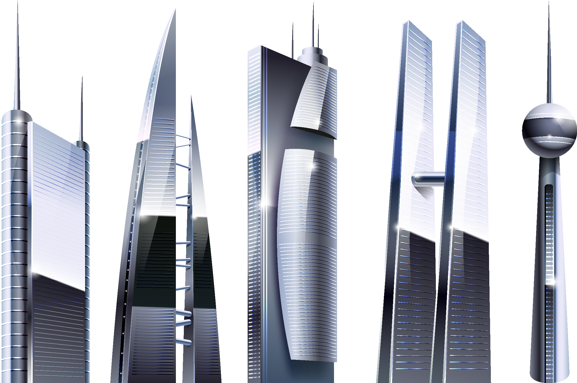 Interesting Architecture - Landmark Buildings PNG Image