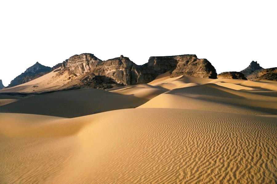 Sand Dunes and Rocks PNG Image