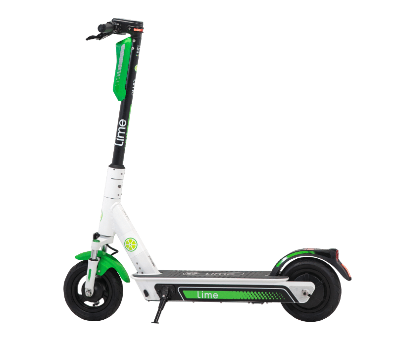 Lime E-Scooter PNG Image
