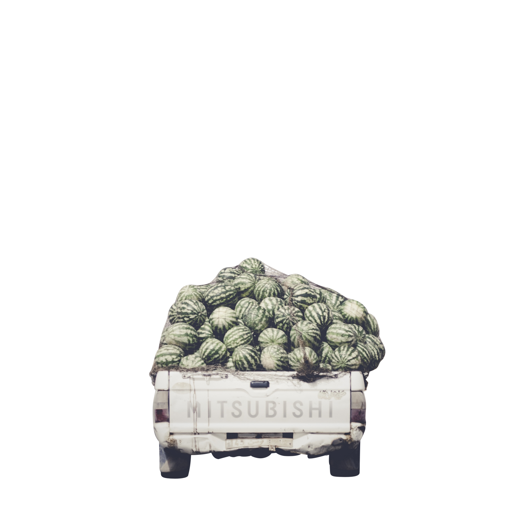 Load of Watermelons in Mistubishi Pick-up