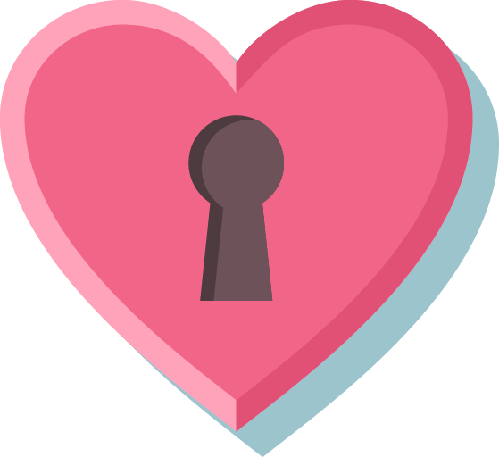 Locked Pink Heart
