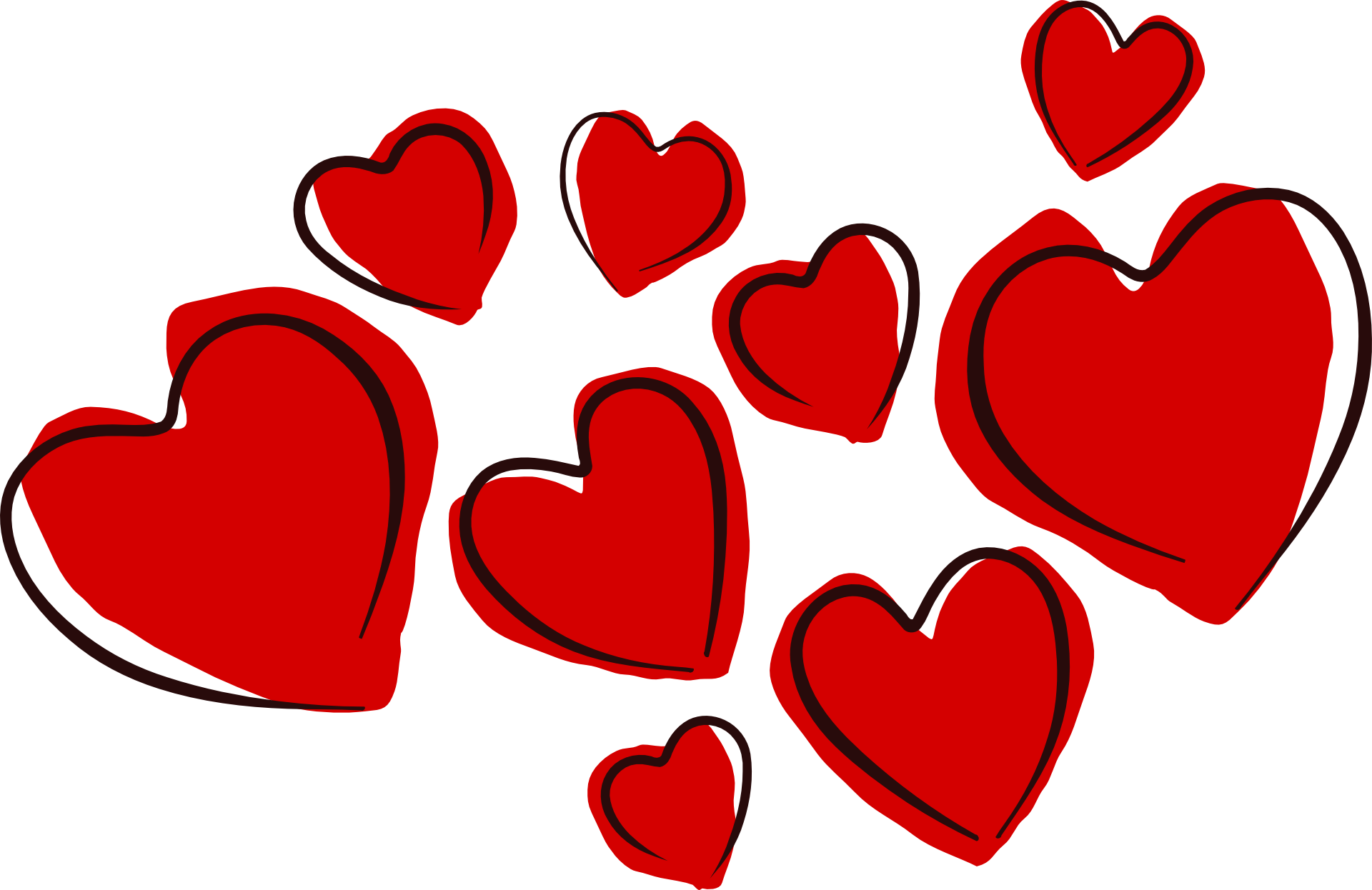 Love Hearts PNG Image
