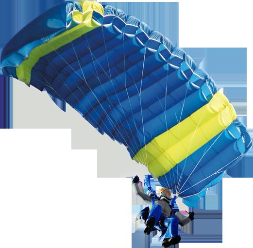 Man skydiving using parachute