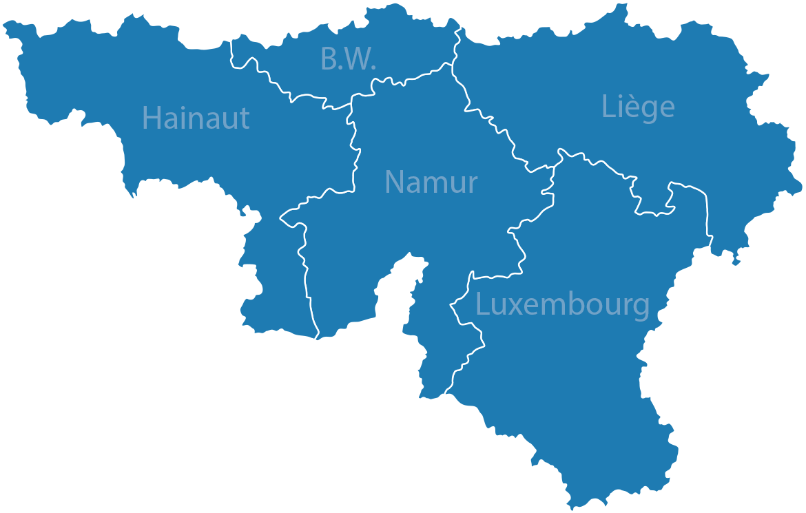 Blue Map of Belgium PNG Image