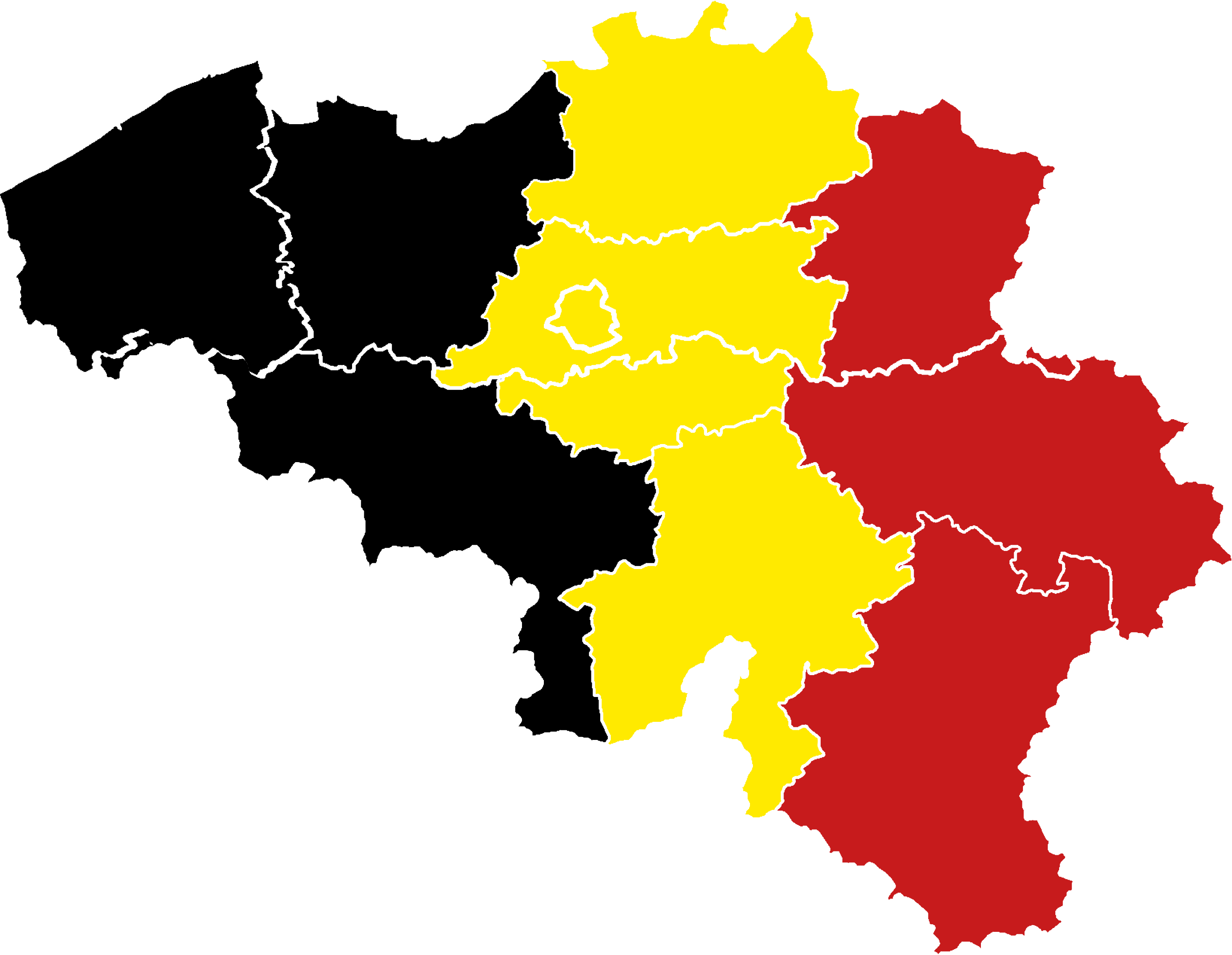 Map of Belgium – Flag of Belgium