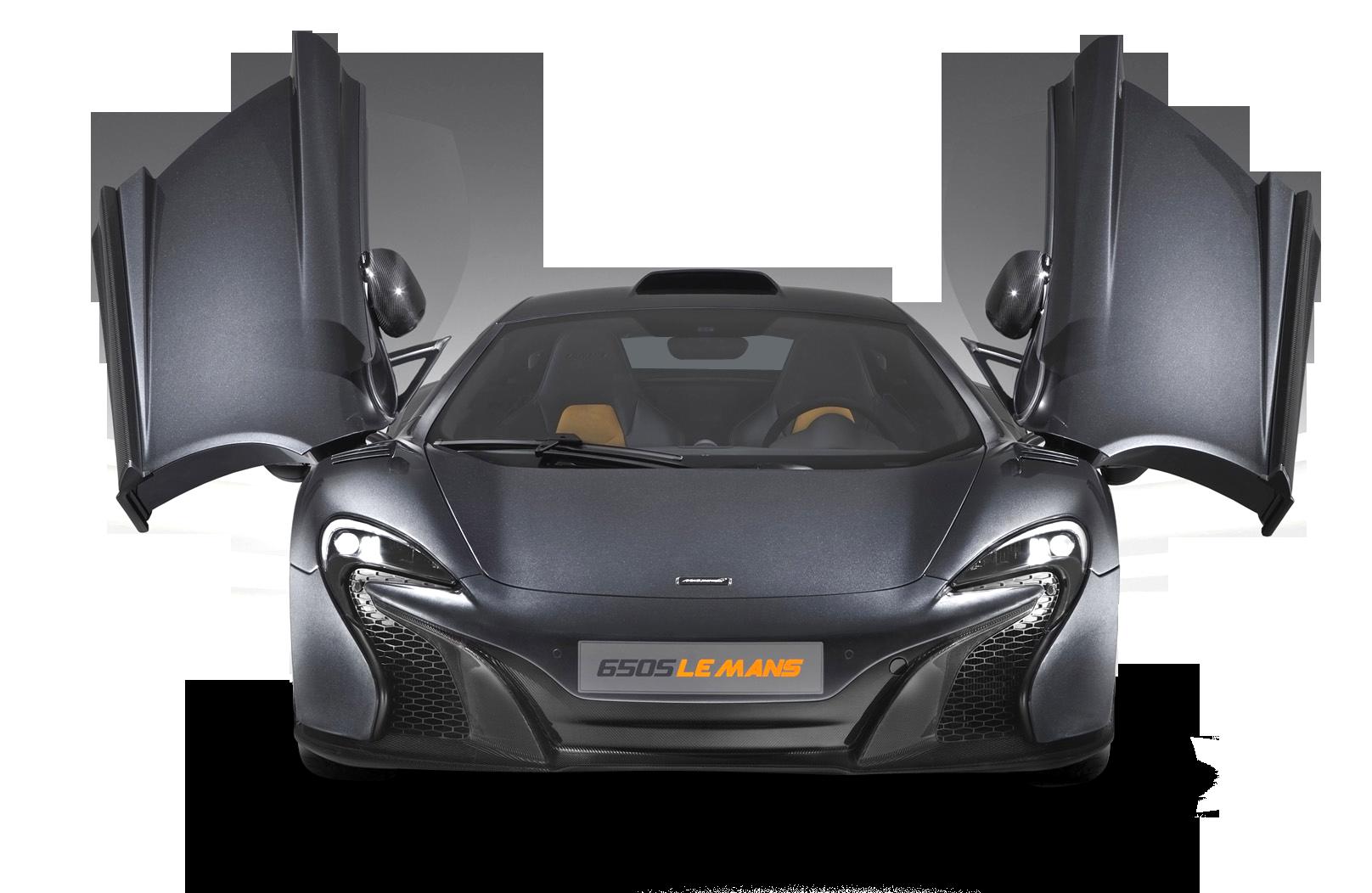 McLaren-650S-Grey sports car PNG Image