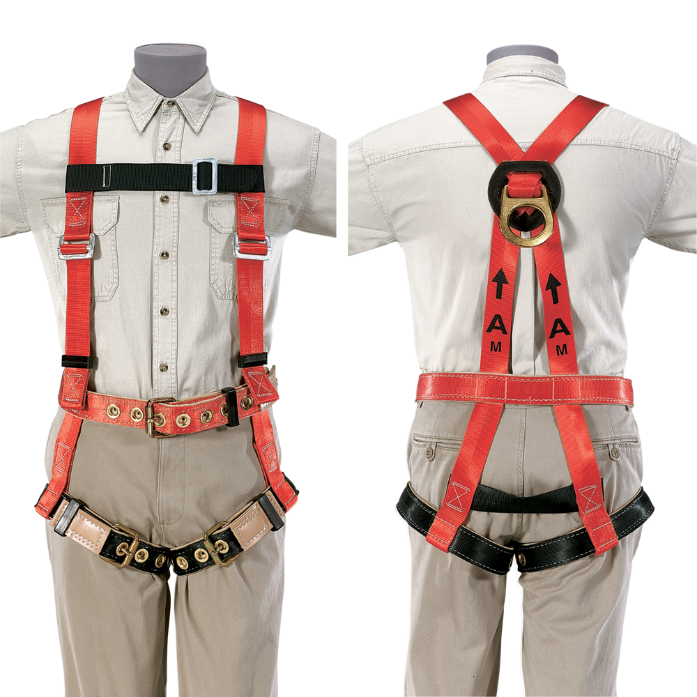 Men Climbing Harness Front and Back