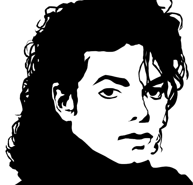Micheal Jackson Sketch PNG Image