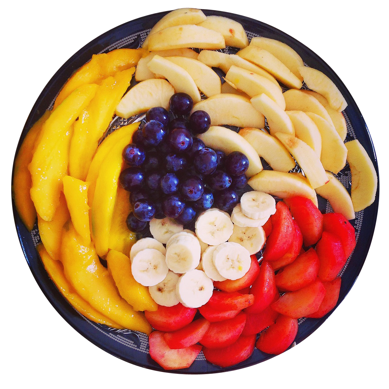 Mixed Fruits in a Plate PNG Image