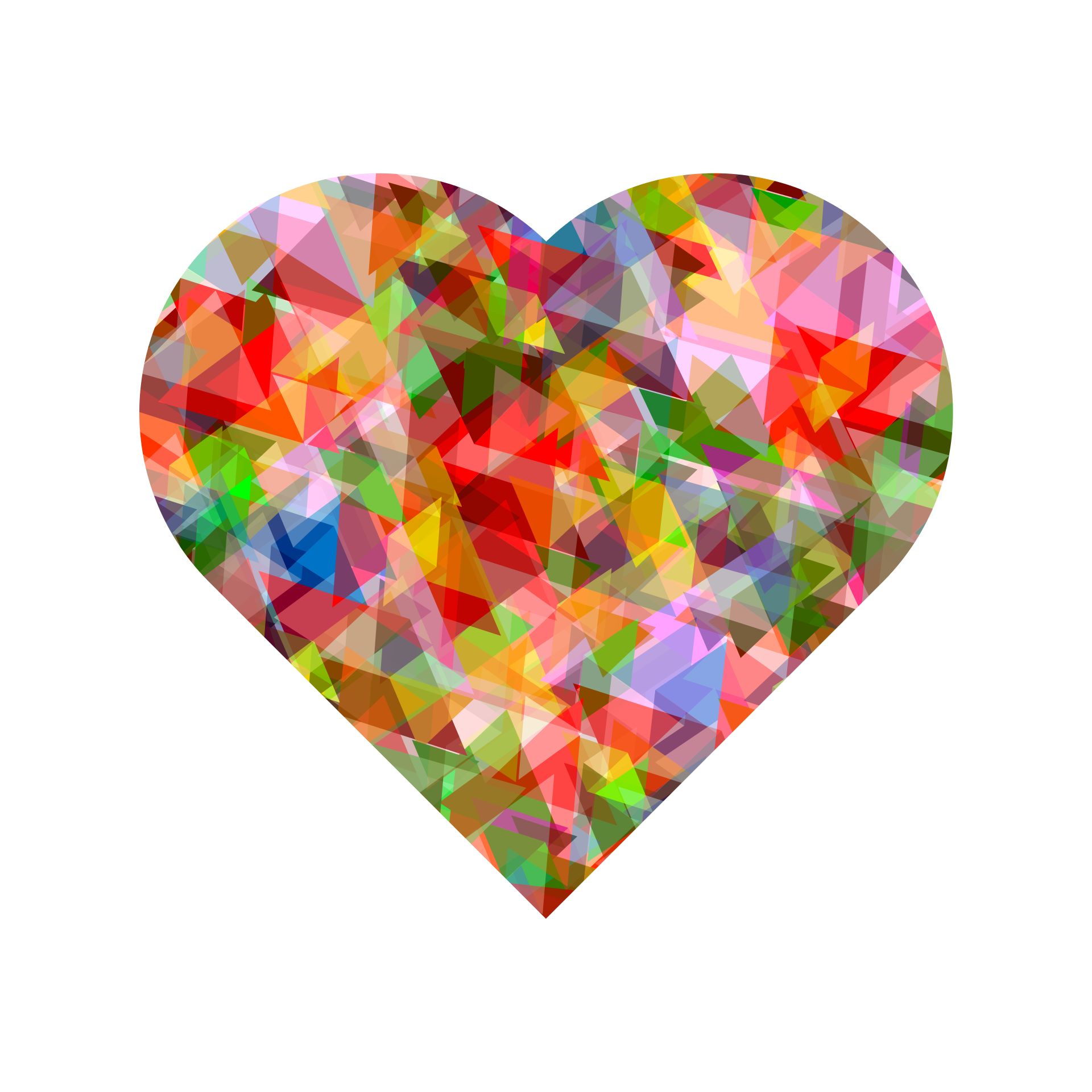 Multi Colors Crystal Heart