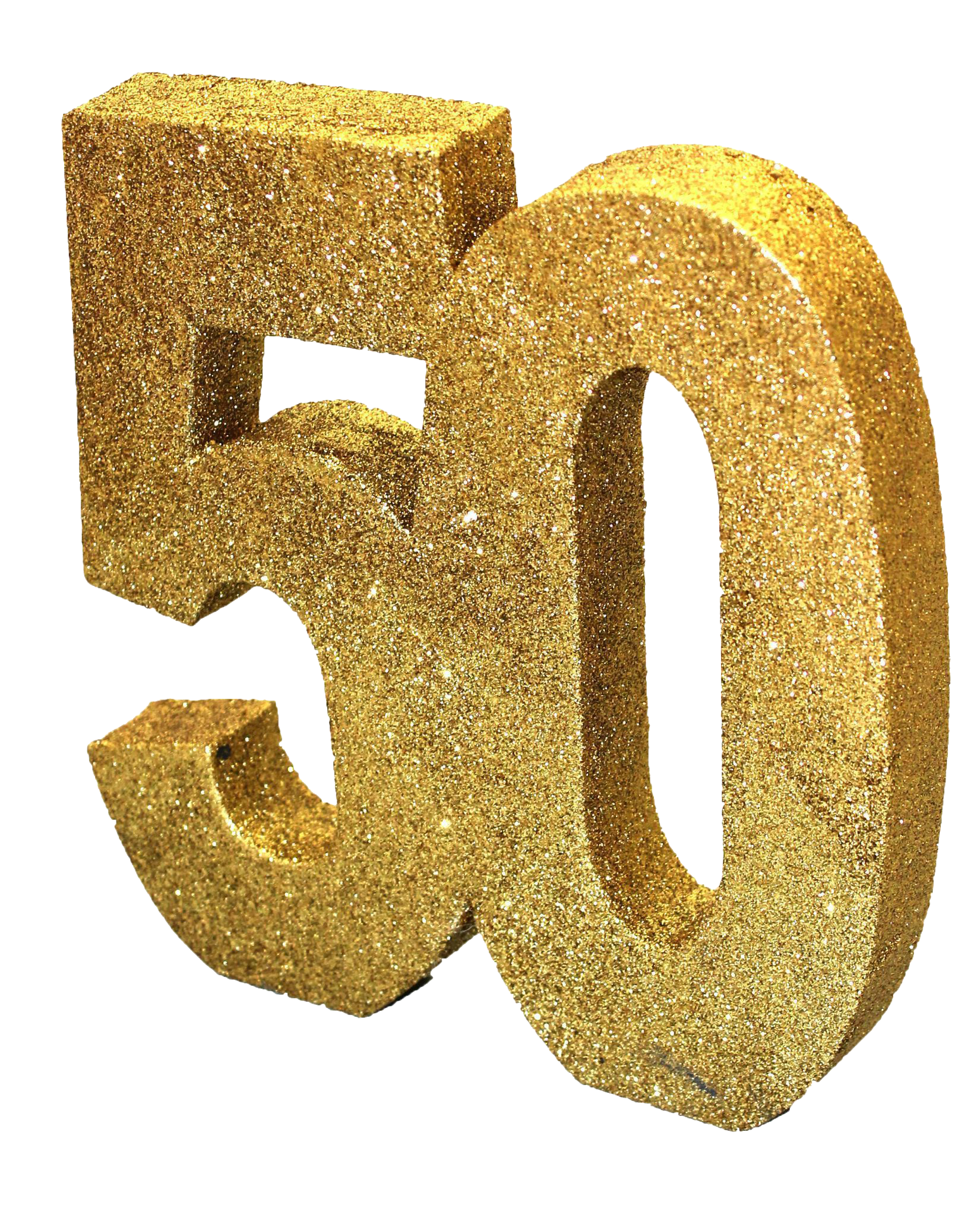 Number 50 with Glitter PNG Image