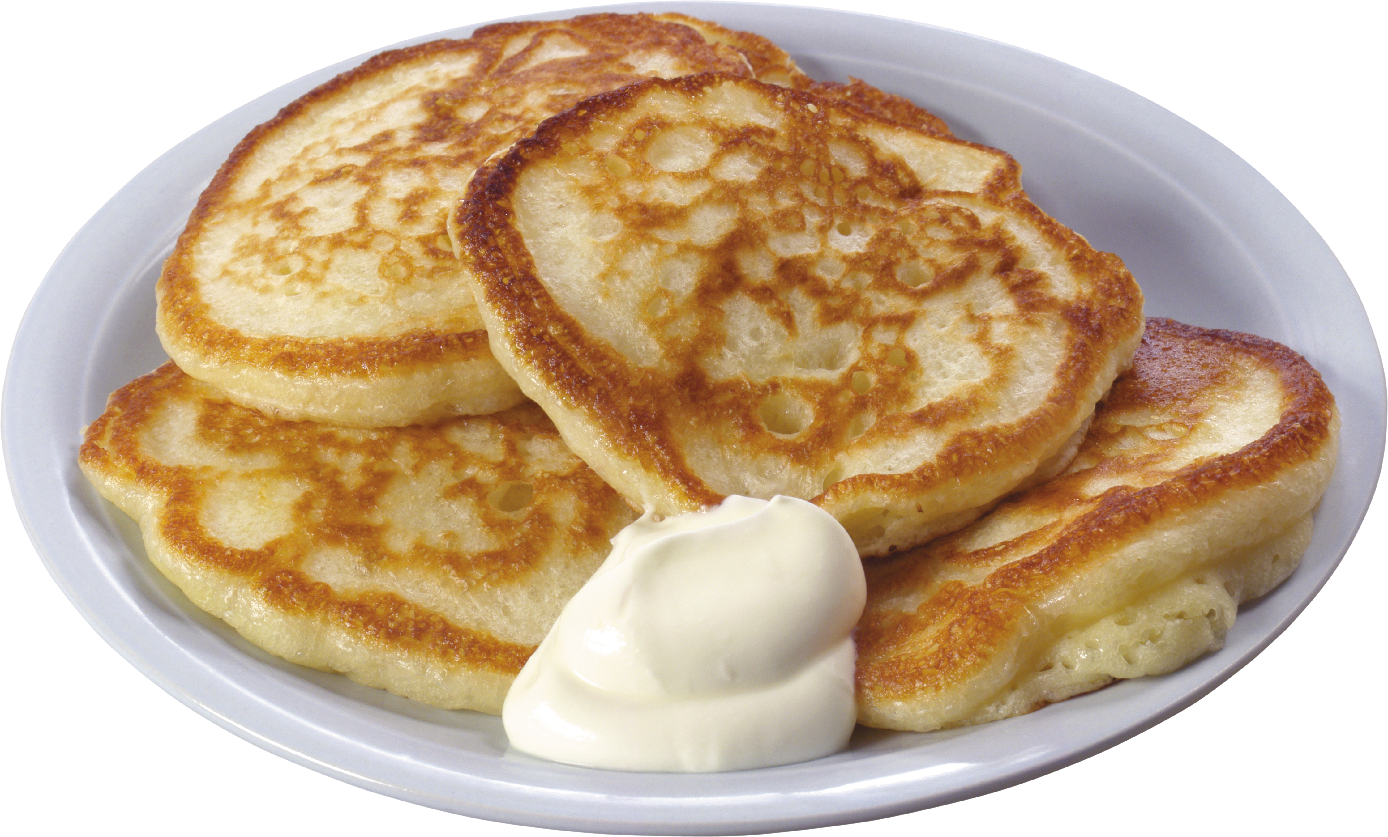Pancakes in Plate