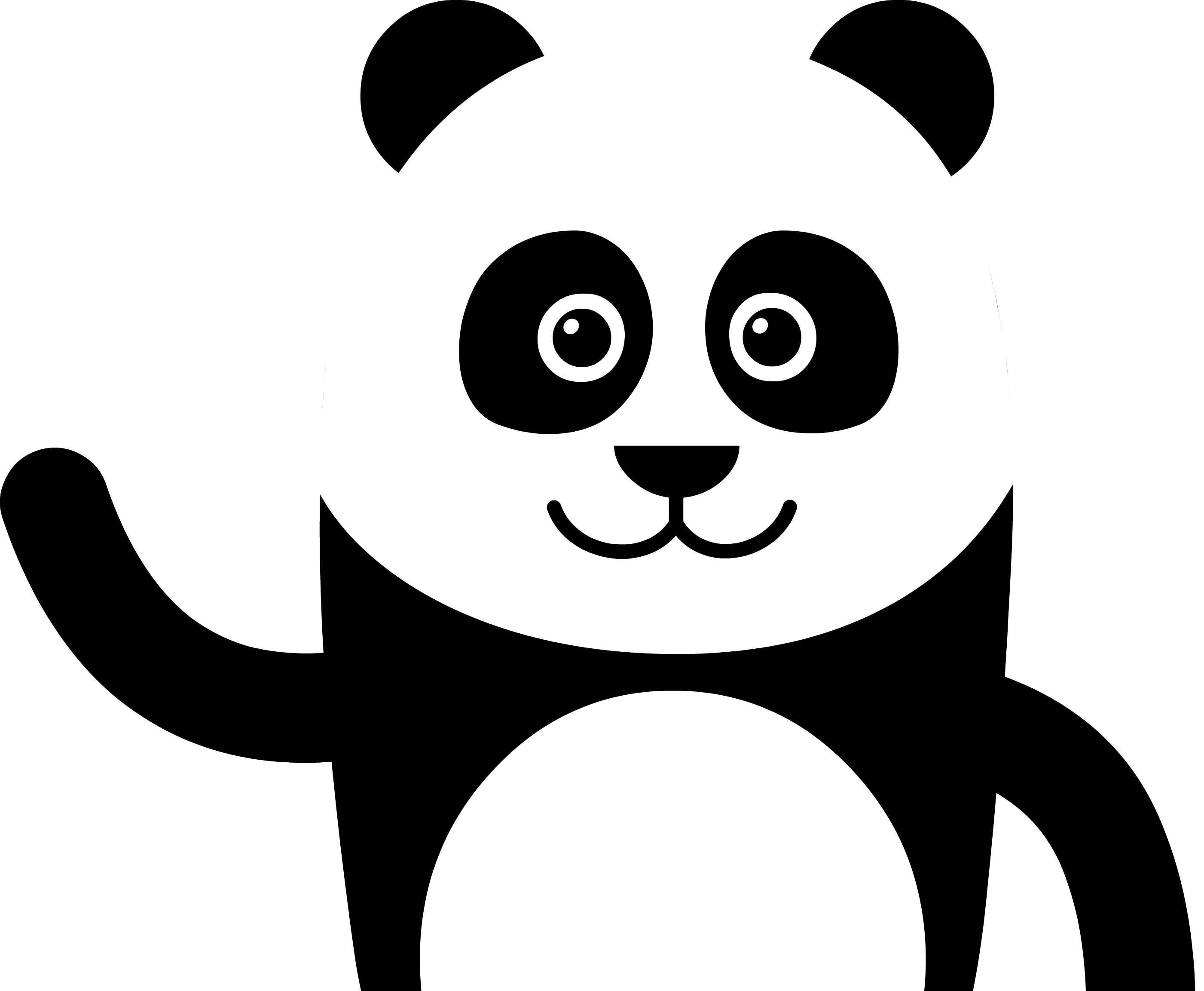 Panda Drawing PNG Image