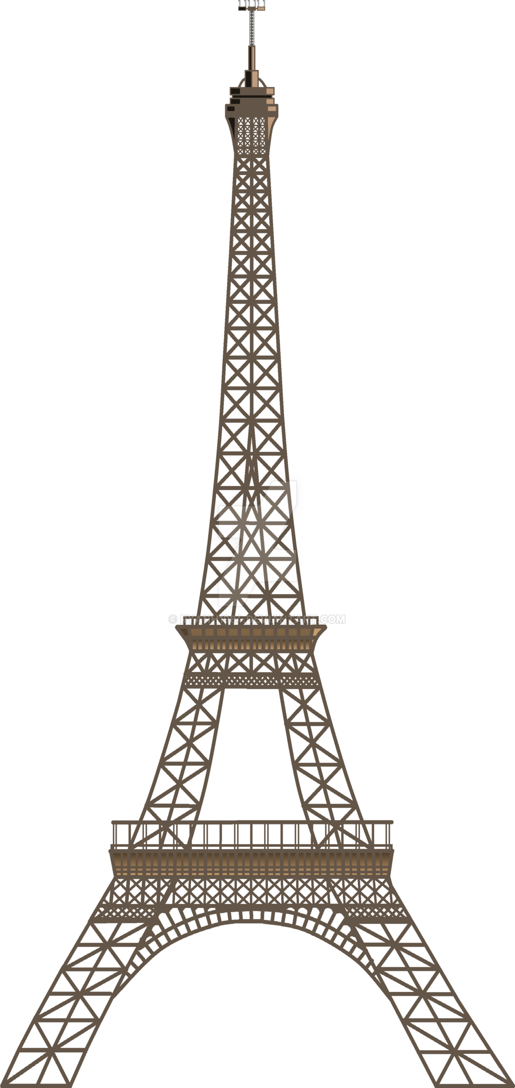 Two Dimensional Eiffel Tower - Paris PNG Image