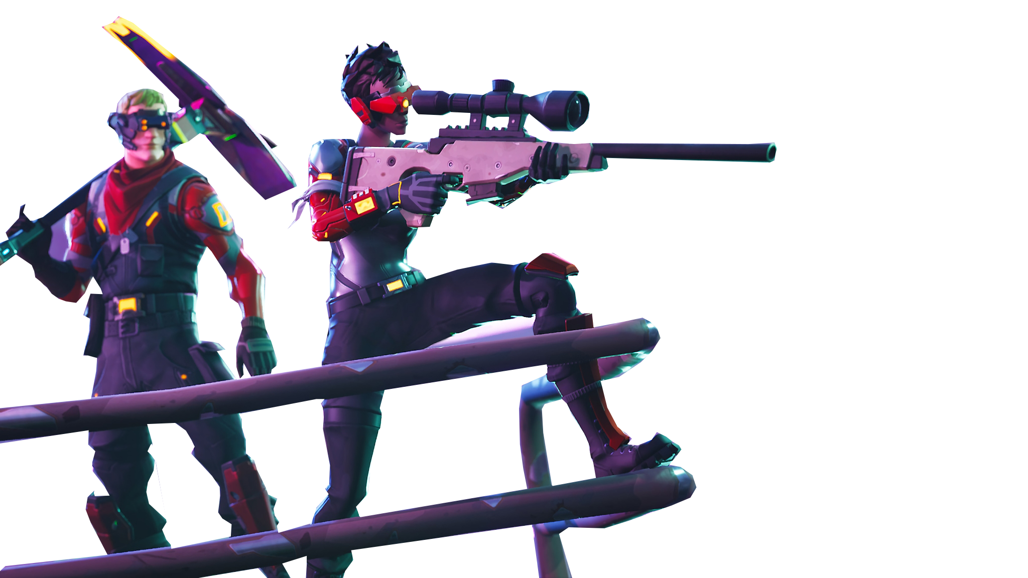 People Aiming Fortnite Thumbnail Template Png Image Purepng Free