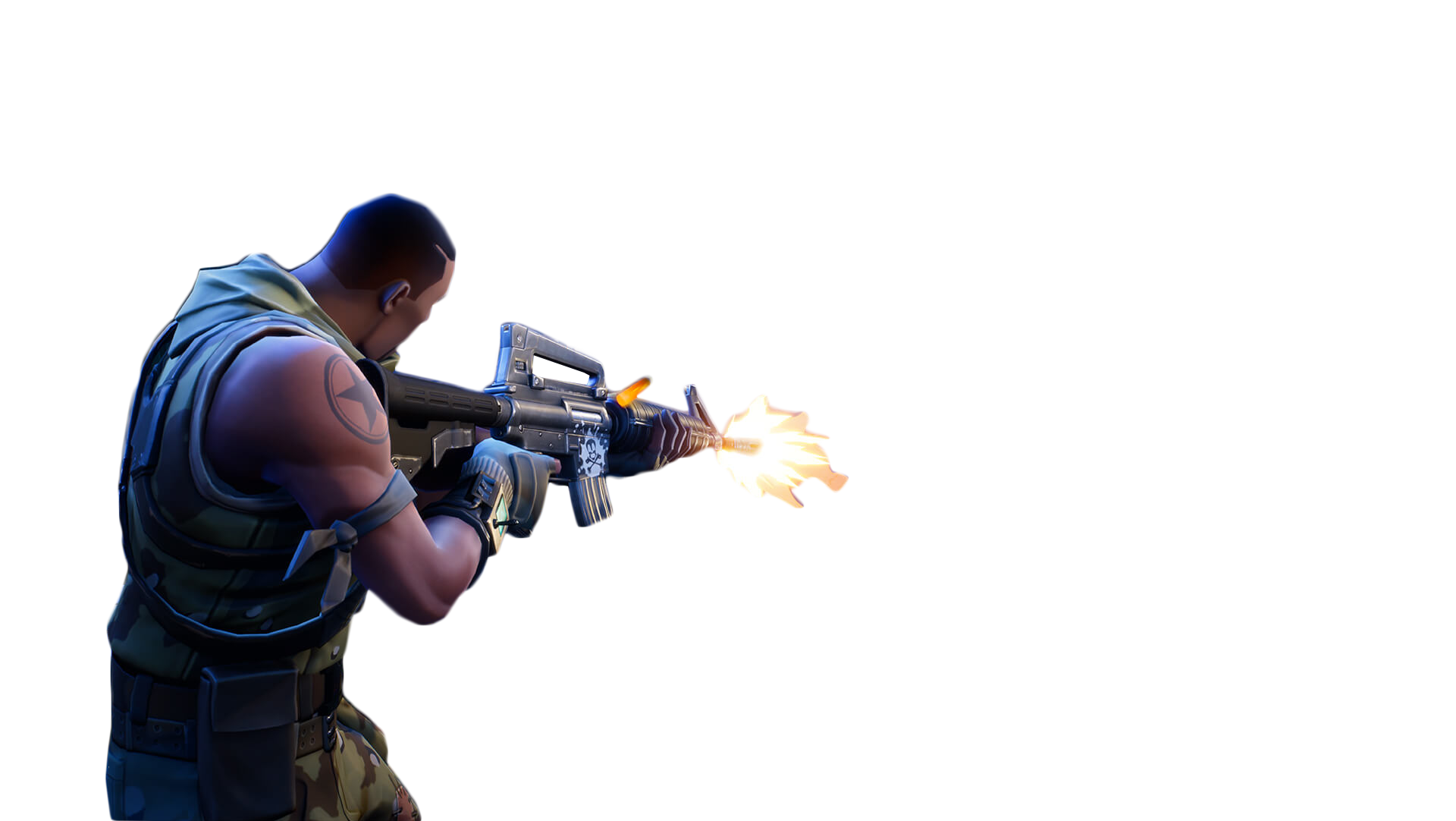 Person Shooting Fortnite Thumbnail Template PNG Image