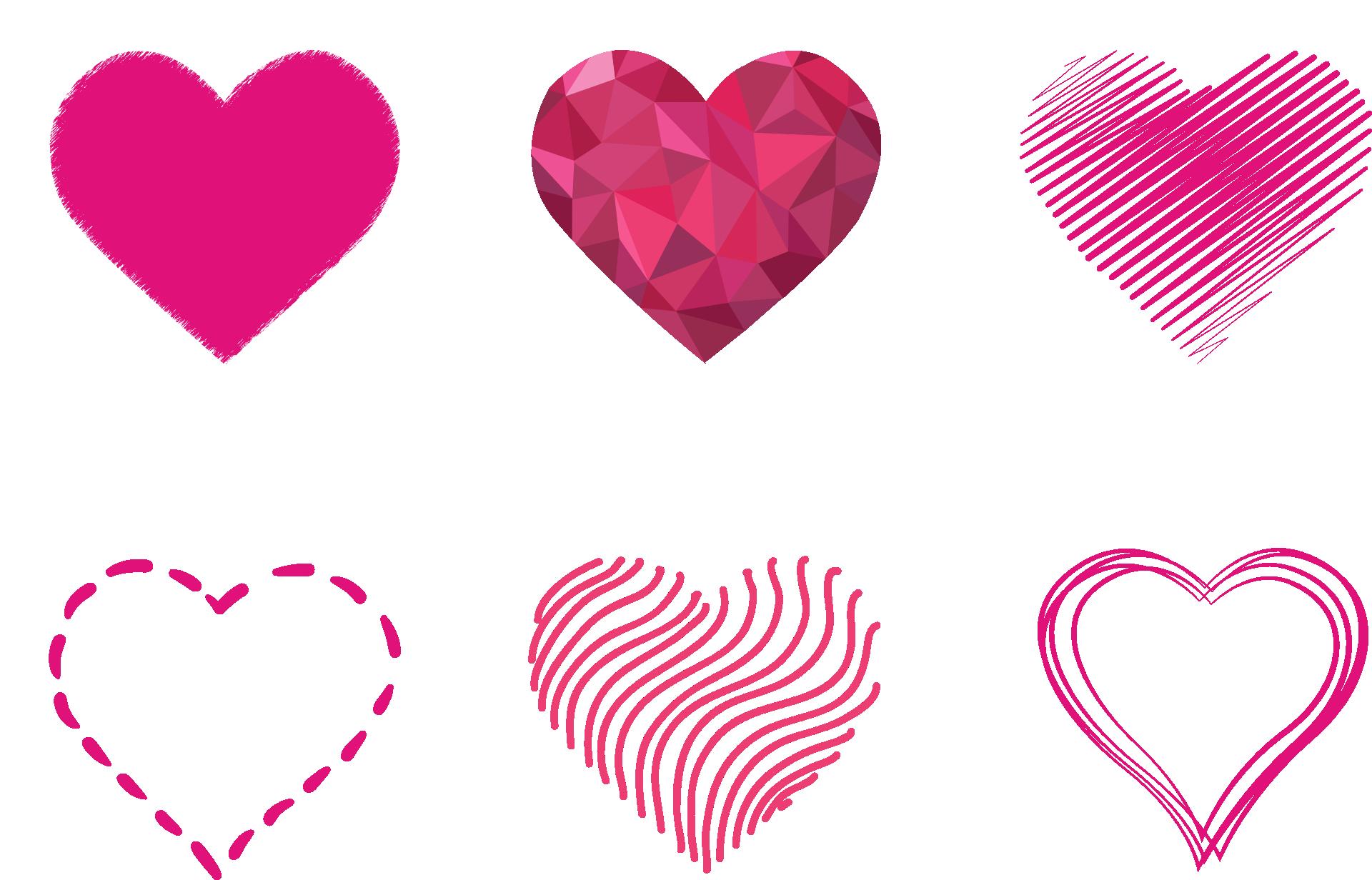 Pink Art Hearts PNG Image - PurePNG | Free transparent CC0