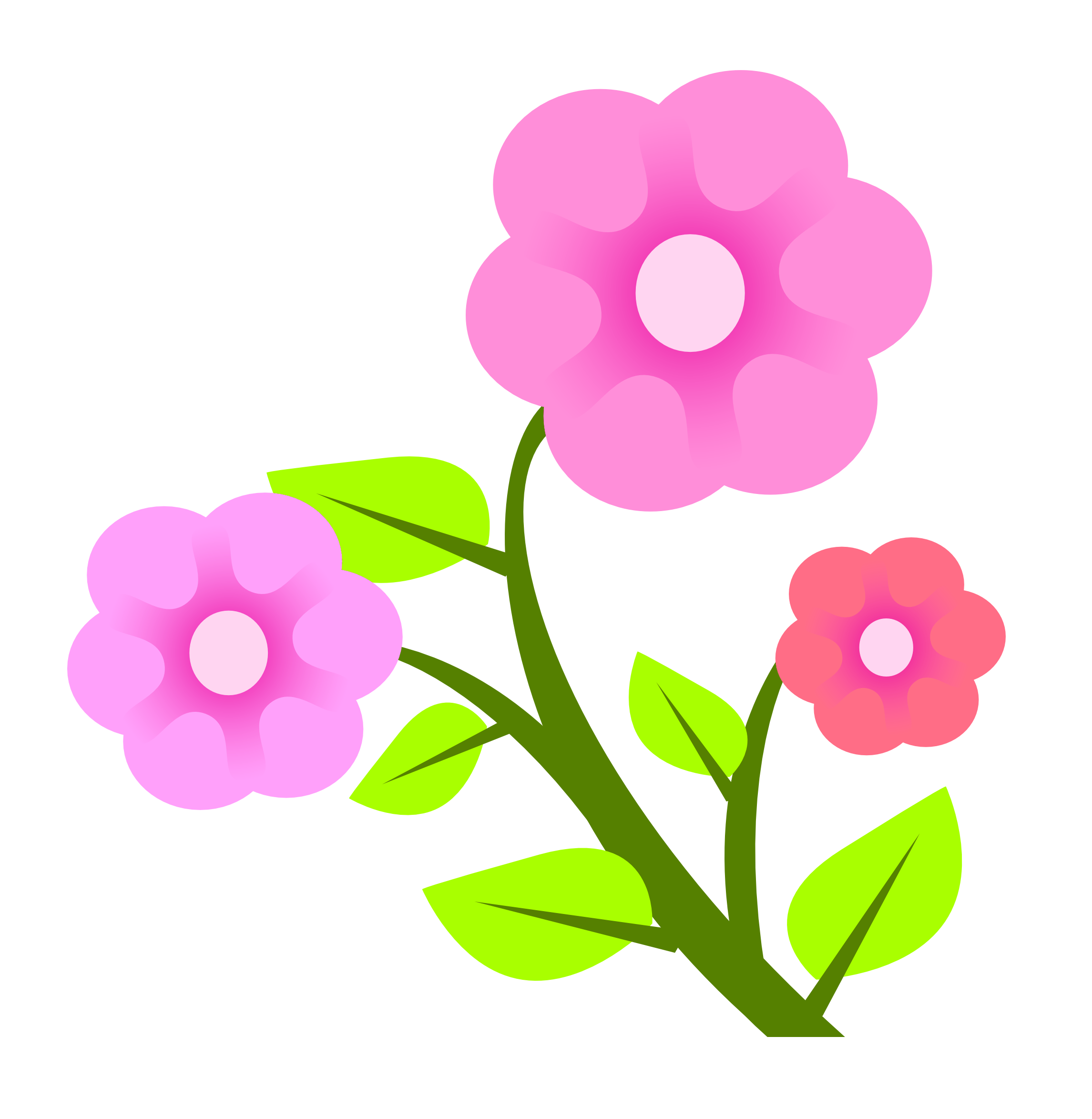 Pink Flowers PNG Image