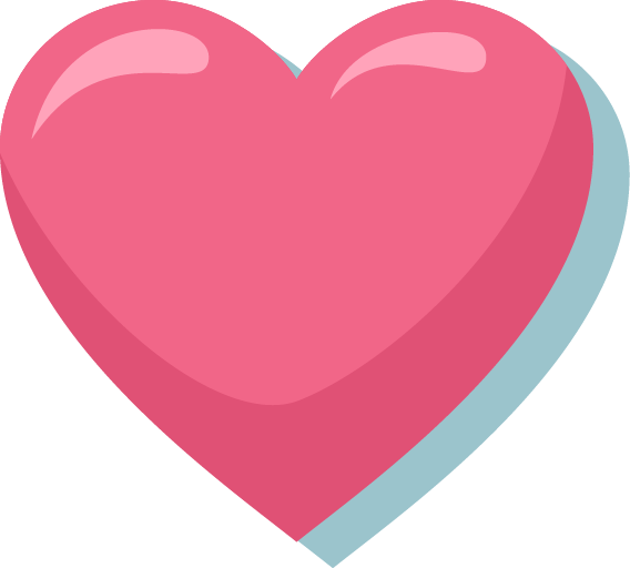 Pink Heart PNG Image