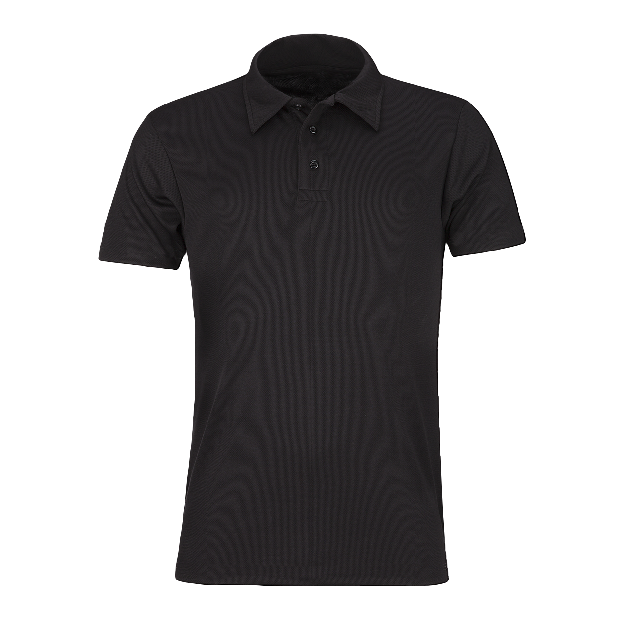 Plain Black Polo Shirt PNG Image