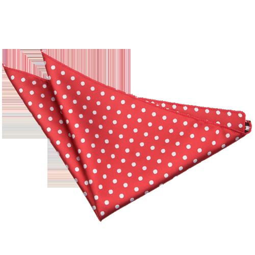 Polka Dot Dark Red Handkerchief