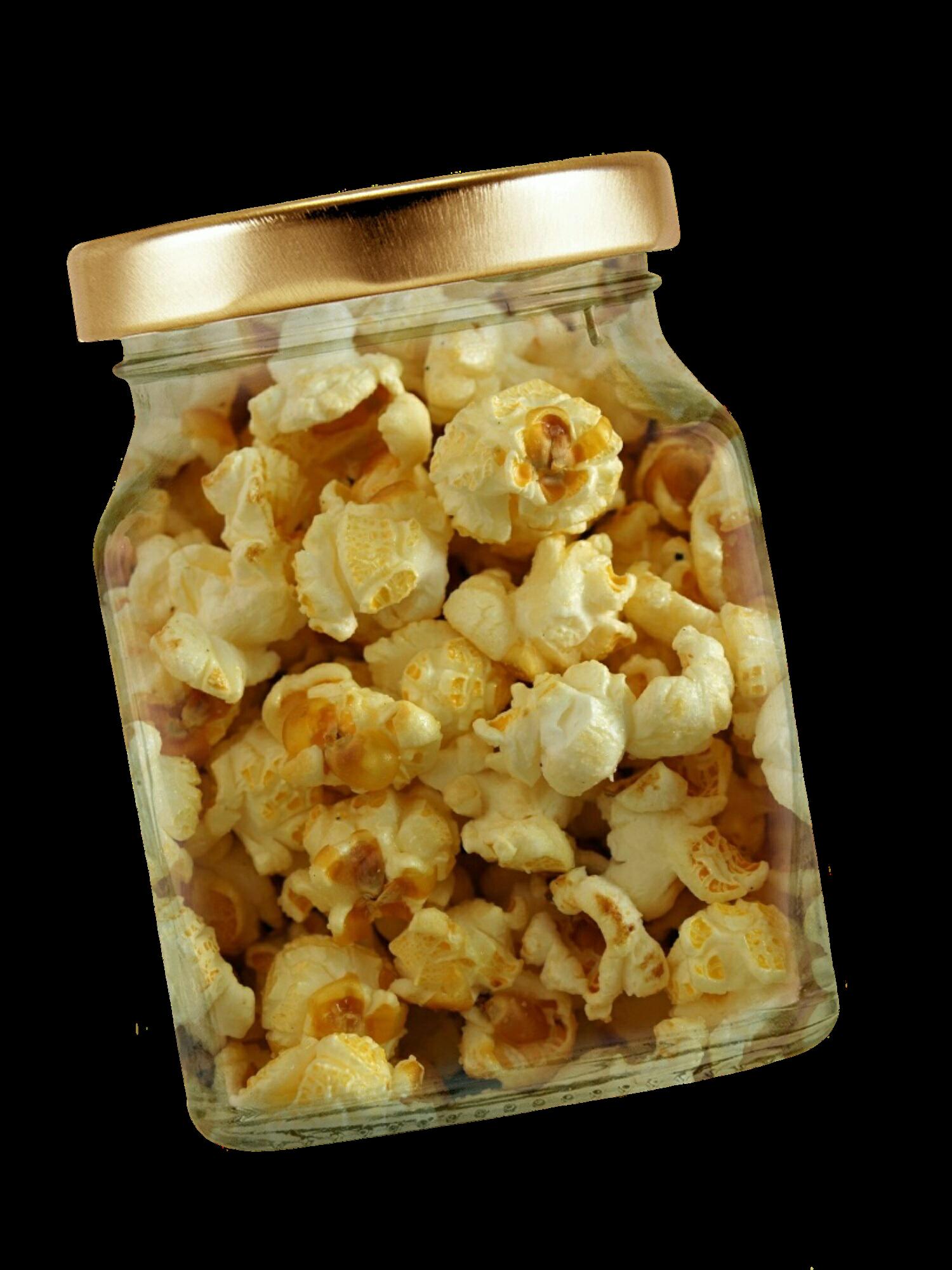 Popcorn in Jar PNG Image