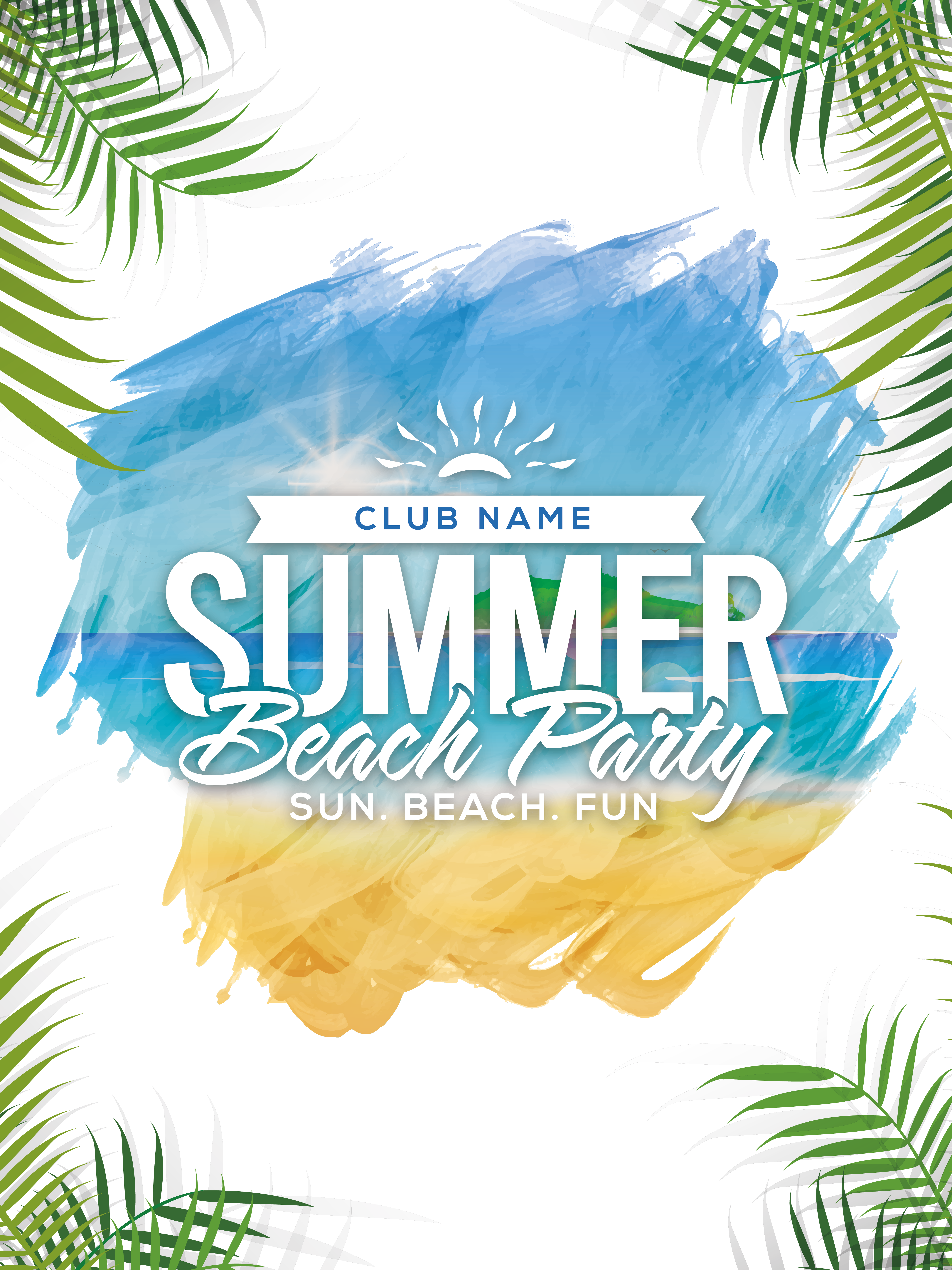 Summer Beach Party Poster  PNG Image