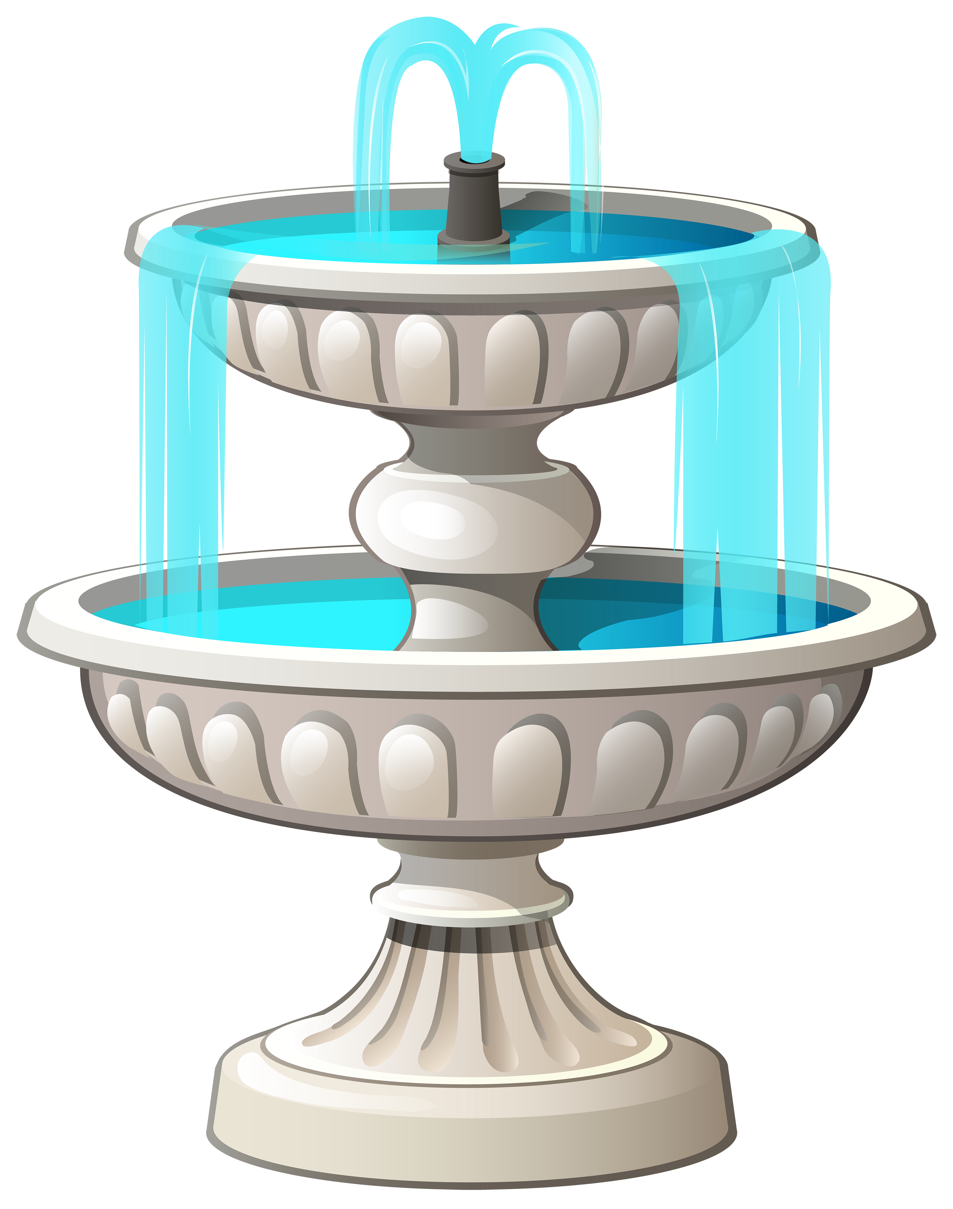 3 Stage Fountain PNG Image