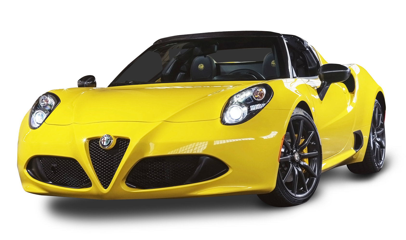 Download Alfa Romeo 4c Spider Yellow Car Png Image For Free