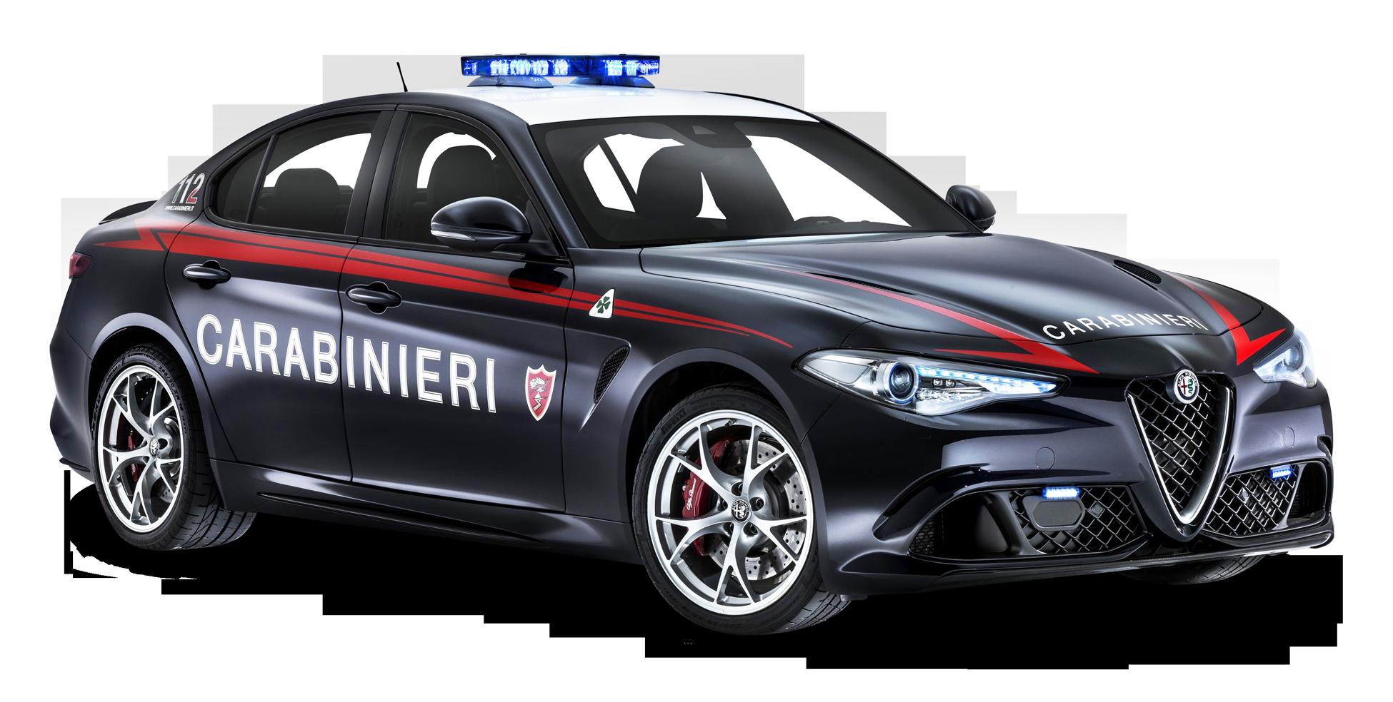 Alfa Romeo Police Car PNG Image