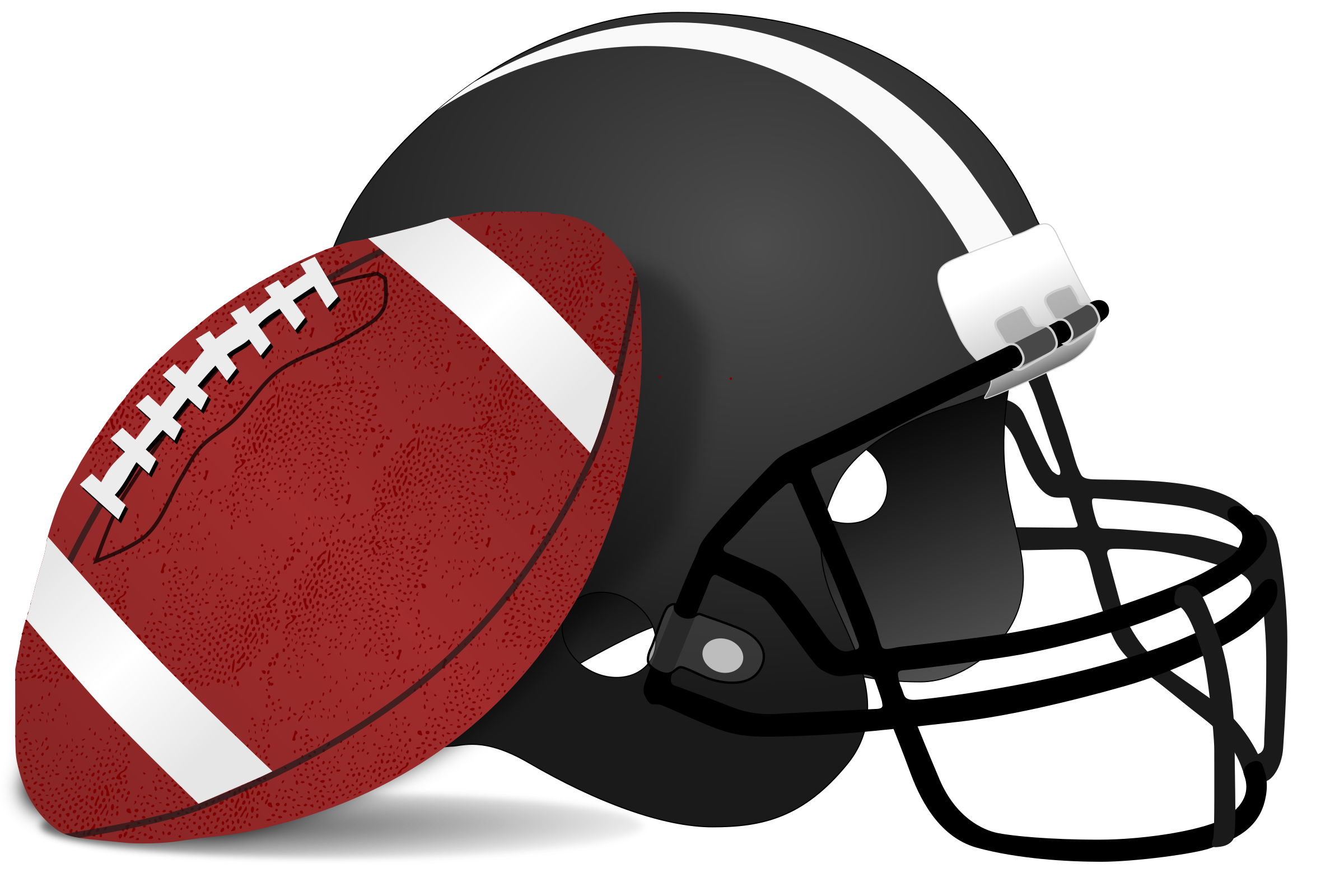 American Football Ball And Helm PNG Image