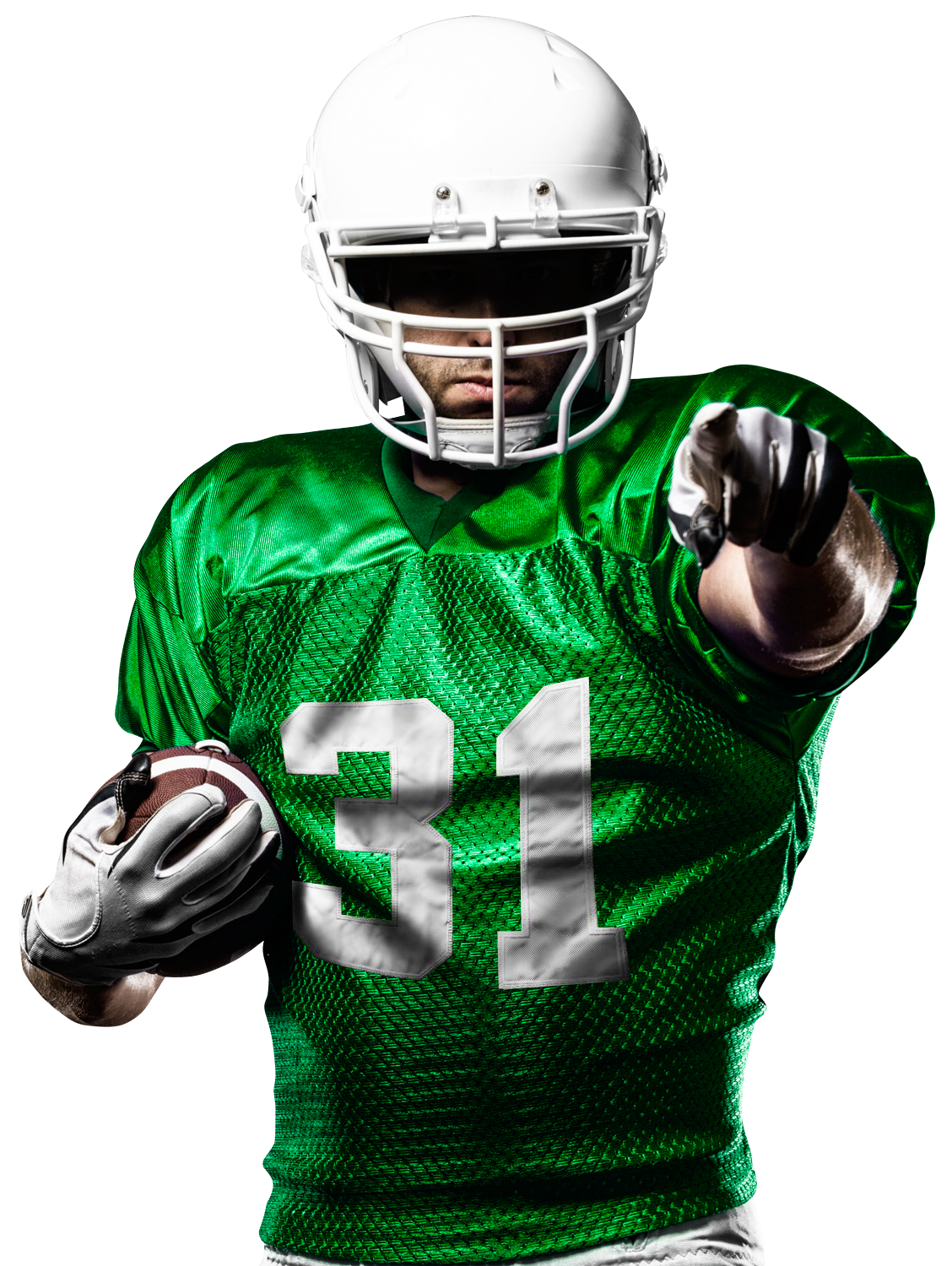 American Football Player Pointing At You PNG Image