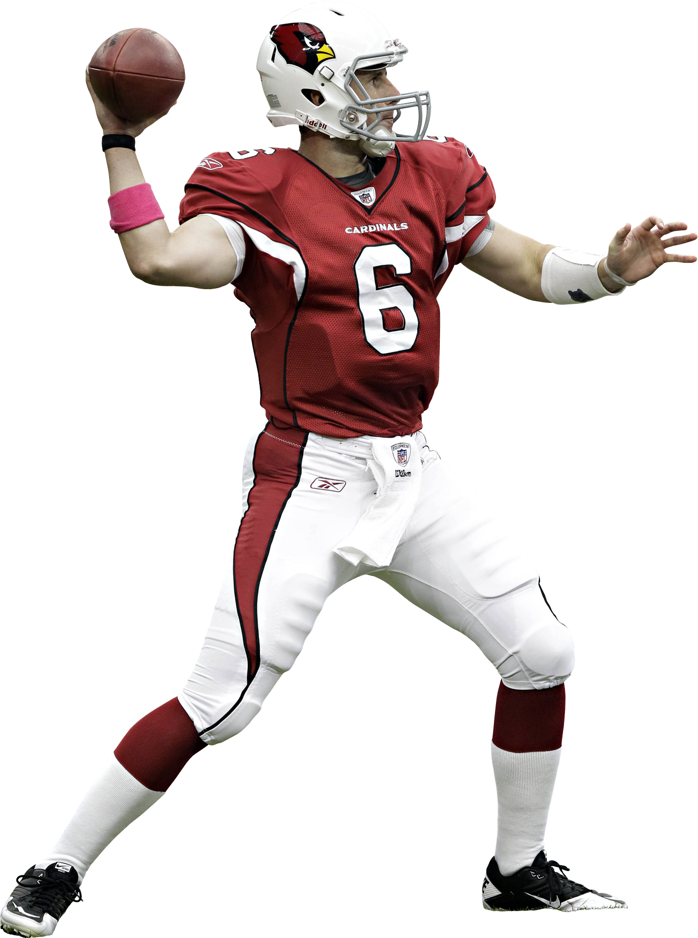 American Football Player Throwing A Ball PNG Image