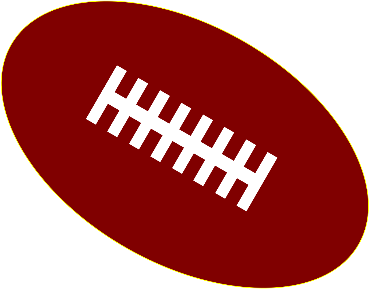 American Football PNG Image