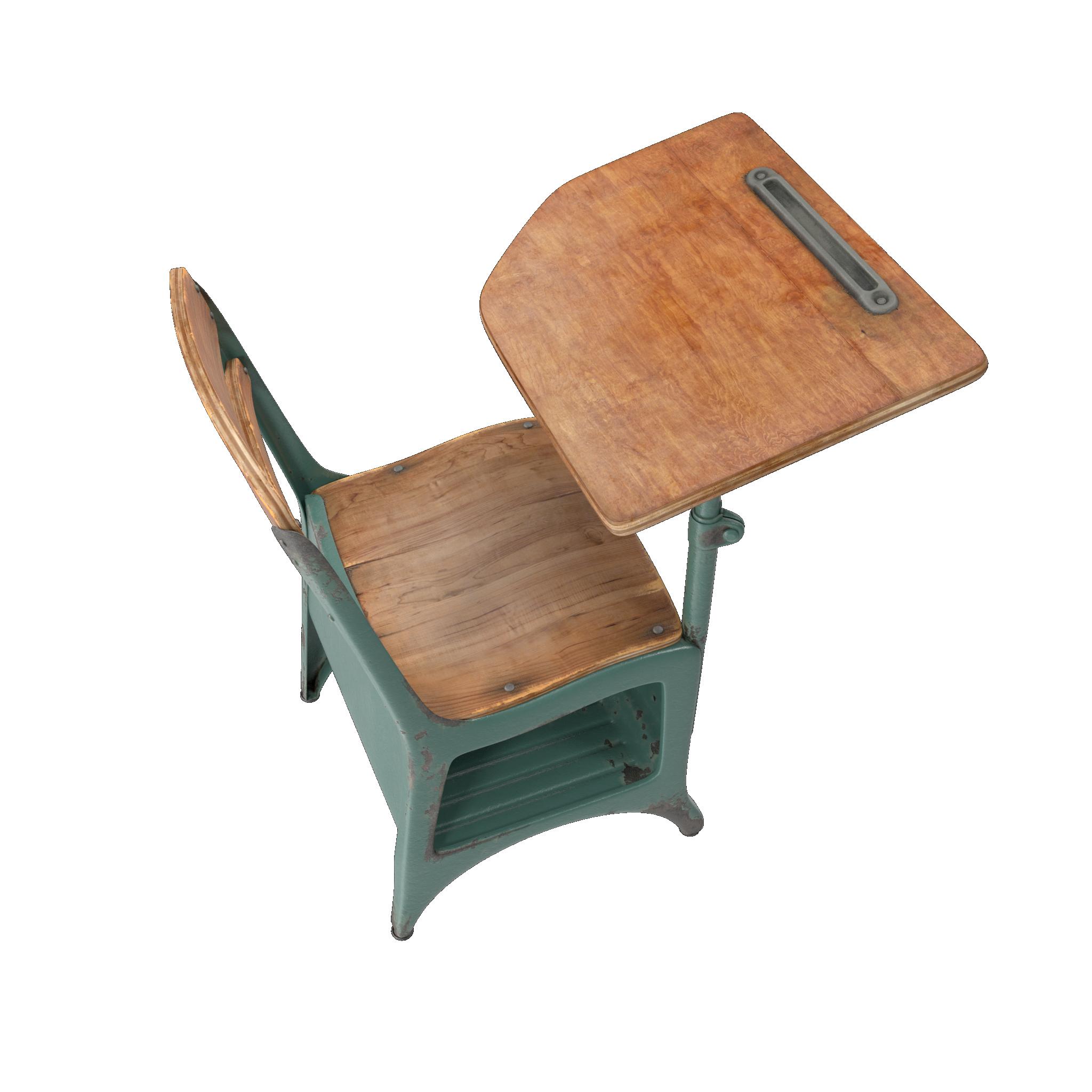 Antique School Desk PNG Image