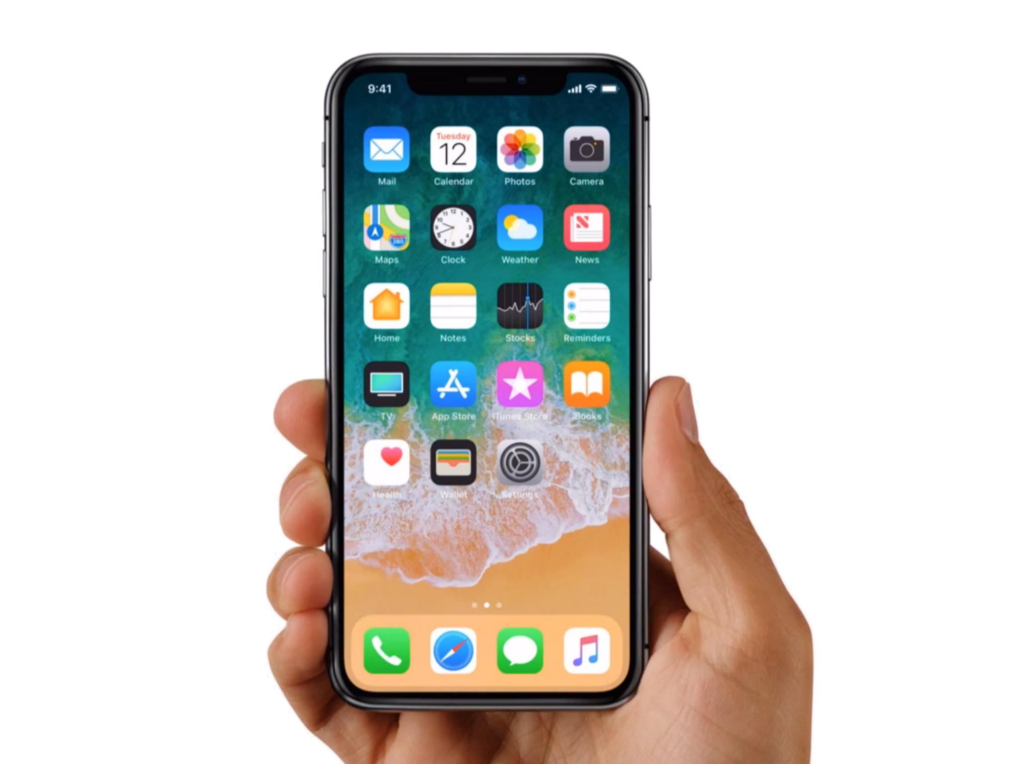 Apple iPhone X in Hands