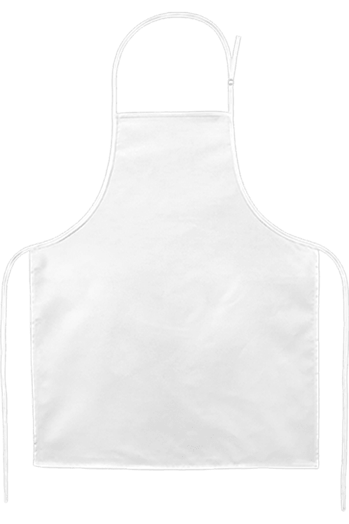 Apron Simple White PNG Image