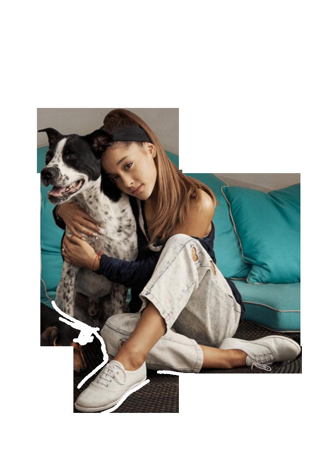 Ariana Grande cuddling with a cat