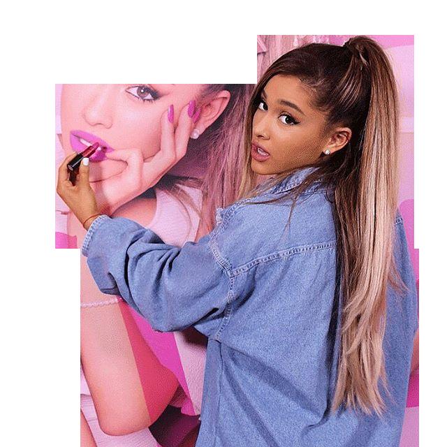 Ariana Grande in blue pullover