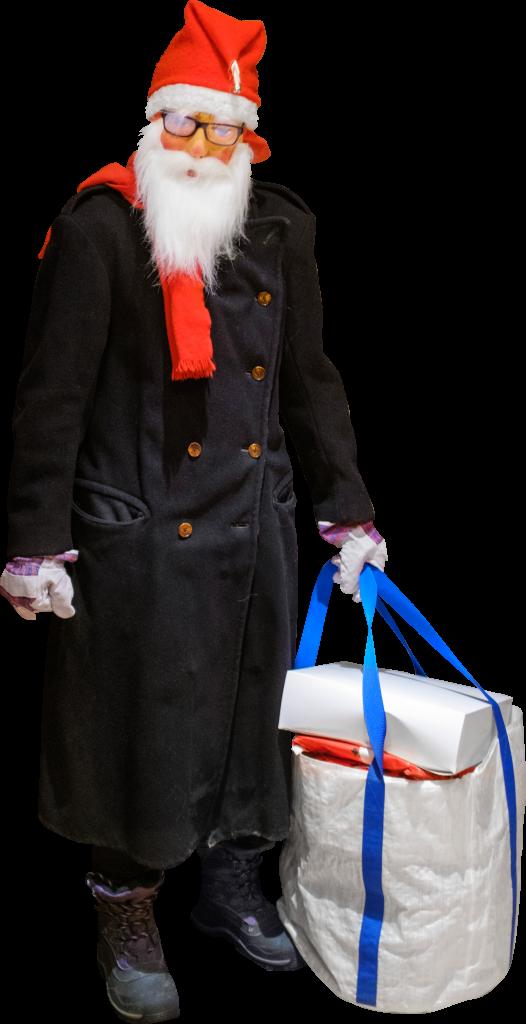 As Improvised Jultomten Aka Santa Claus