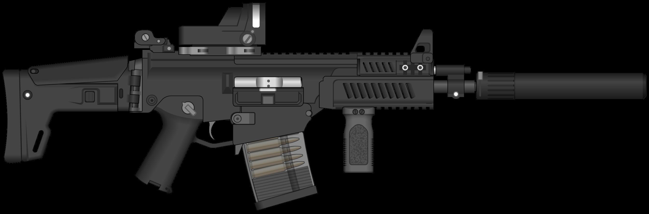 Assault Rifle Clipart PNG Image
