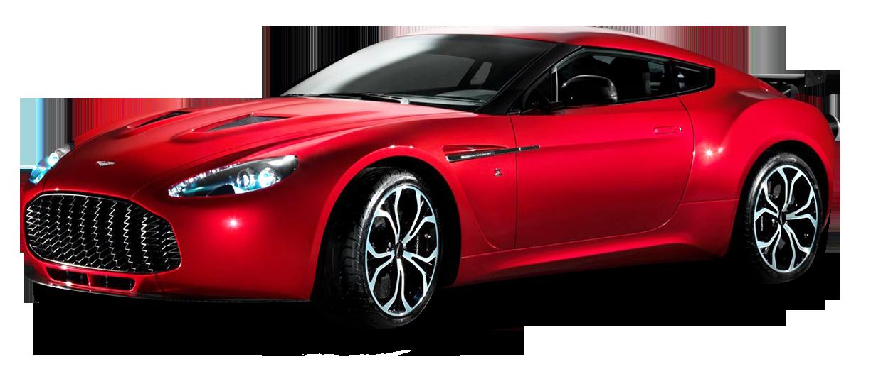 Aston Martin V12 Zagato Red Sports Car