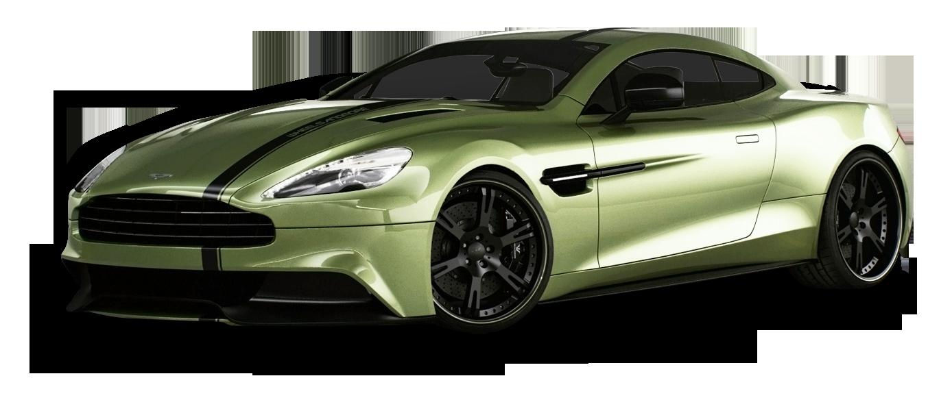 Aston Martin Vanquish Green Car PNG Image