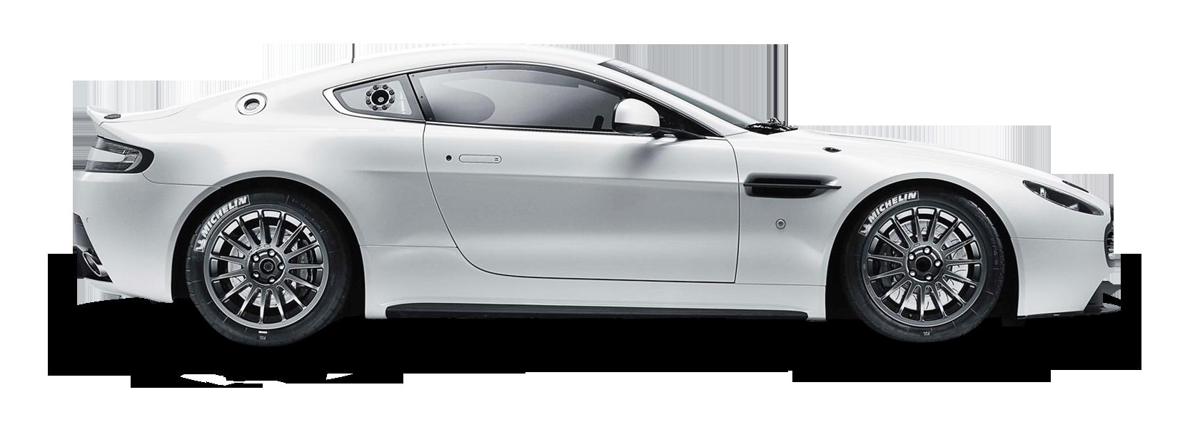 Aston Martin Vantage GT4 White PNG Image