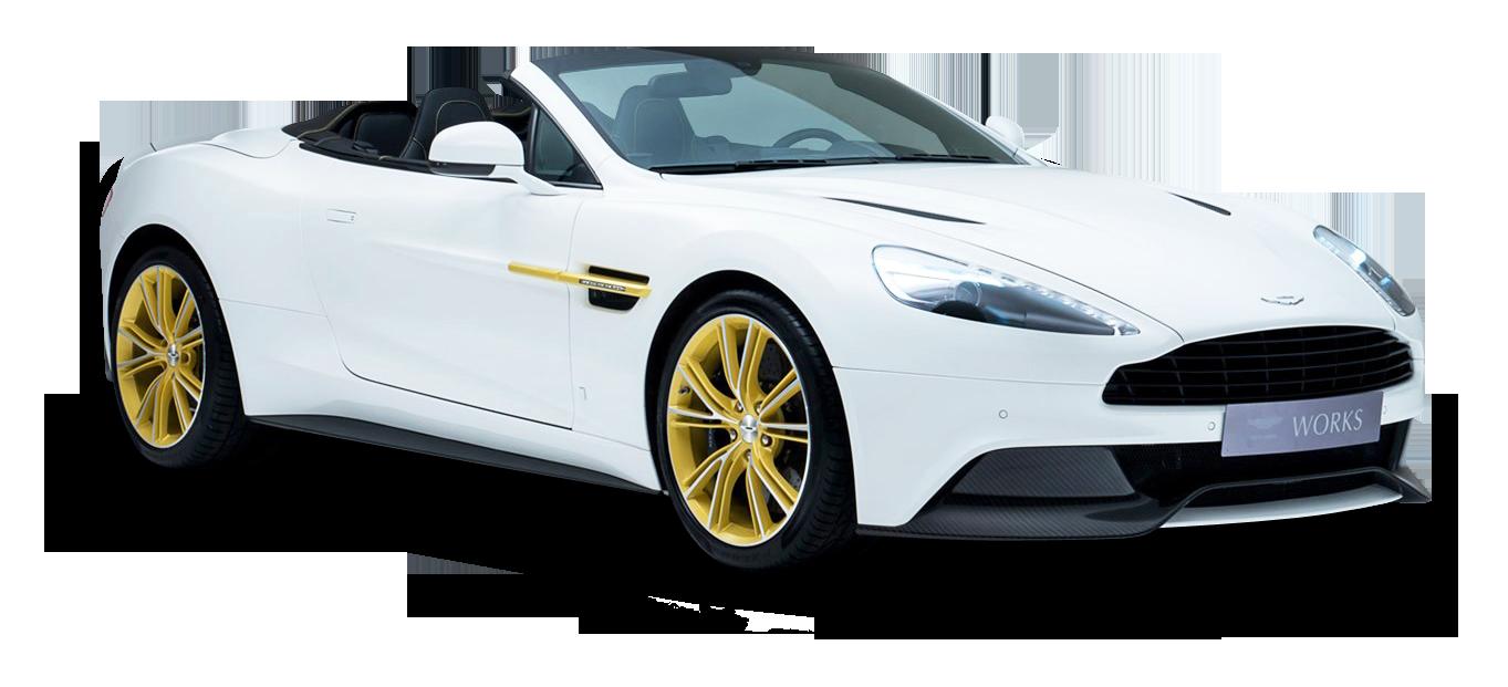 Aston Martin White PNG Image